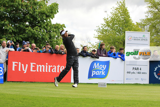 Thongchai Jaidee (THA) on the 5th tee during Wednesday's Pro-Am round of the Dubai Duty Free Irish Open presented  by the Rory Foundation at The K Club, Straffan, Co. Kildare<br /> Picture: Golffile | Thos Caffrey<br /> <br /> All photo usage must carry mandatory copyright credit <br /> (&copy; Golffile | Thos Caffrey)