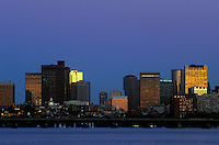 Boston skyline view from Cambridge Charles River