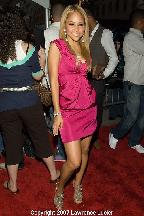 "NEW YORK - AUGUST 20:  Recording artist Kat Deluna arrives at the premiere of ""Illegal Tender"" August 20, 2007, at Chelsea West Cinemas in New York City.  (Photo by Lawrence Lucier)"