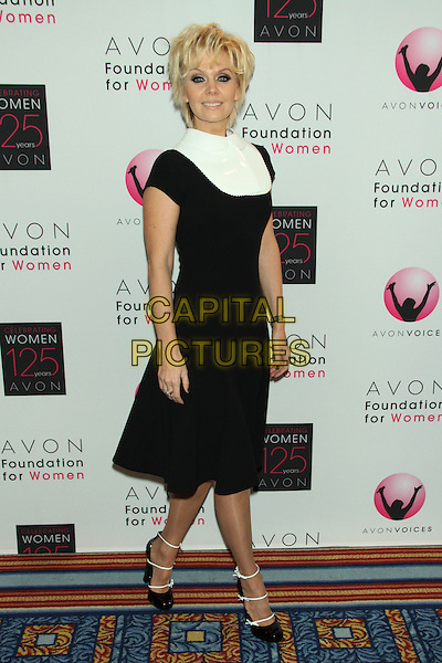 Valeriya (Alla Yurievna Perfilova).Avon Foundation for Women's Global Voices for Change Awards Gala at the Marriot Marquis Times Square, Neww York, USA.. 2nd November 2011.full length black dress white collar.CAP/LNC/TOM.©LNC/Capital Pictures.