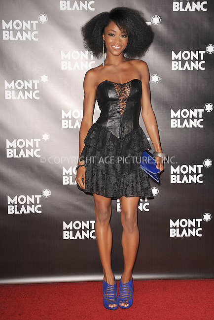 WWW.ACEPIXS.COM . . . . . .September 12, 2010, New York City....Yaya DaCosta attends the launch of the Montblanc John Lennon Edition at Jazz at Lincoln Center on September 12, 2010 in New York City....Please byline: KRISTIN CALLAHAN - ACEPIXS.COM.. . . . . . ..Ace Pictures, Inc: ..tel: (212) 243 8787 or (646) 769 0430..e-mail: info@acepixs.com..web: http://www.acepixs.com .