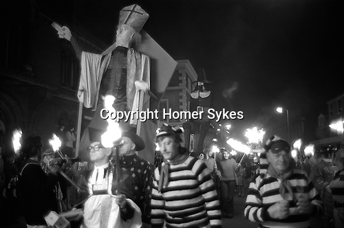 Lewis Bonfire night November 5th. Carrying an effigy of the Pope which will be burnt. <br />