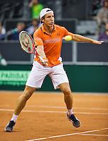 September 12, 2014, Netherlands, Amsterdam, Ziggo Dome, Davis Cup Netherlands-Croatia, Igor Sijsling (NED)<br /> Photo: Tennisimages/Henk Koster