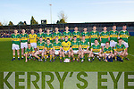 The Kerry team who played Cork in the Munster U21 Football Championship Final held on Wednesday night in Pairc Ui Rinn Cork..Front Row from left: Barry John Keane, Niall O'Shea, Stephen O'Brien, Mark Griffin, Brian Kelly, James O'Donoghue, Johnathan Lyne, Paul Geaney, Pa Kilkenny and James Walsh..Back Row from Left: Peter Crowley, Daithi Casey, Shane O'Leary, Colm O'Shea, David O'Leary, Jack Sherwood, Thomas Ladden, Barry Shanahan, Alan Fitzgerald, Edmund Walsh, Colm Moriarty, James Coffey and Kieran Hurley.