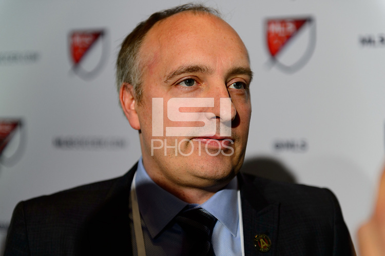 Philadelphia, PA - Friday January 19, 2018: Darren Eales during the 2018 MLS SuperDraft at the Pennsylvania Convention Center.