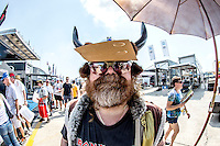 A fan in the paddock, 12 Hours of Sebring, Sebring International Raceway, Sebring, FL, March 2015.  (Photo by Brian Cleary/ www.bcpix.com )