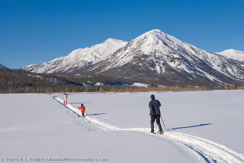 Cross country skiing in the Brooks mountain range, Arctic Alaska