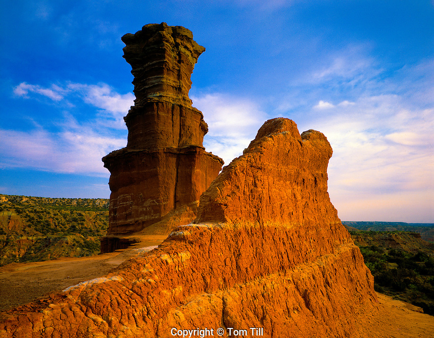 The Lighthouse  Palo Duro Canyon State Park, Texas  Red River  April  Morning