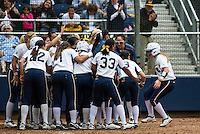 Berkeley, CA, May 5, 2013.Cal Women's Softball versus Stanford. Stanford won 7-5. Senior Day..Danielle Henderson homers.