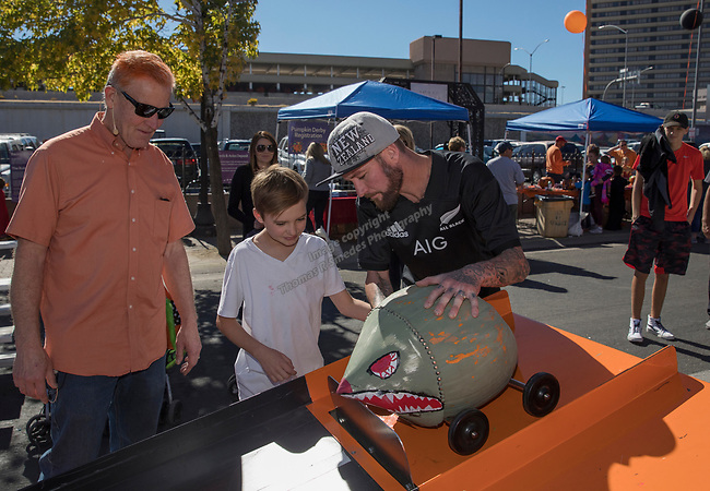 The pumpkin derby was a popular event during Pumpkin Palooza in Sparks, Nevada on Sunday, Oct. 22, 2017.
