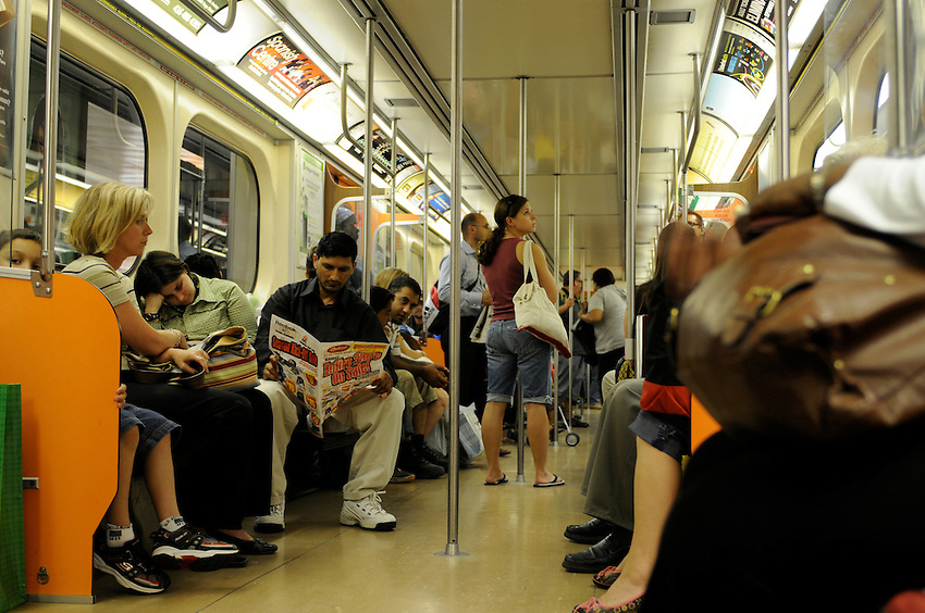 A typical afternoon ride on the Toronto subway