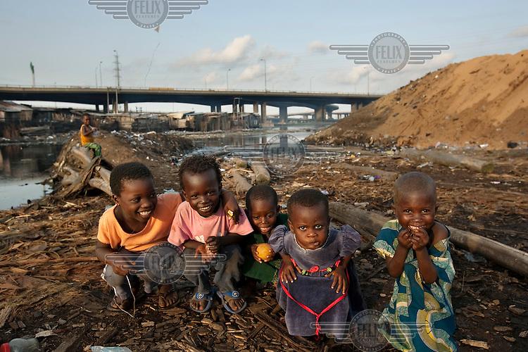 Children in the Ebute Metta neighbourhood.