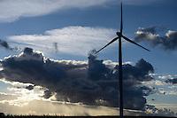 GERMANY, Plauerhagen, windfarm and clouds / DEUTSCHLAND Plauerhagen, Windpark der MVV Stadtwerke Mannheim und Wolken
