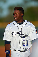 Lakeland Flying Tigers left fielder Christin Stewart (20) during a game against the Tampa Yankees on April 7, 2016 at Henley Field in Lakeland, Florida.  Tampa defeated Lakeland 9-2.  (Mike Janes/Four Seam Images)