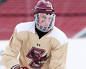 Ryan Fitzgerald (BC - 19) - The Boston College Eagles practiced on the rink at Fenway Park on Friday, January 6, 2017.