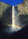 Bridal Veil Falls Rainbow<br /> Yosemite National Park, California
