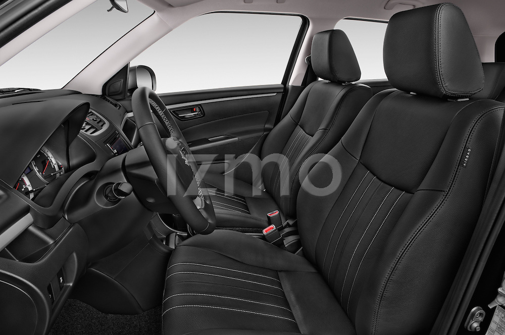 Front seat view of a 2013 Suzuki SWIFT Grand Luxe @ttraction 5 Door Hatchback 2WD Front Seat car photos