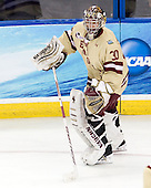 Chris Venti (BC - 30) - The Boston College Eagles defeated the University of Minnesota Golden Gophers 6-1 in their 2012 Frozen Four semi-final on Thursday, April 5, 2012, at the Tampa Bay Times Forum in Tampa, Florida.