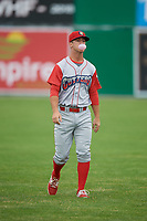 Williamsport Crosscutters third baseman Seth Lancaster (26) warms up before a game against the Batavia Muckdogs on June 22, 2018 at Dwyer Stadium in Batavia, New York.  Williamsport defeated Batavia 9-7.  (Mike Janes/Four Seam Images)