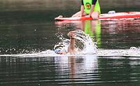 Der spätere, erst 17 Jahre alte Sieger Robin Schüssler (DSW Darmstadt) führte das Feld vom Start weg an und landete einen ungefährdeten Start-Ziel Sieg - Mörfelden-Walldorf 21.07.2019: 11. MoeWathlon