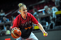 20191114 - CHARLEROI , BELGIUM : Belgian Cat Ann Wauters (12) pictured before a female basketball match between the Belgian national team Belgian Cats and Ukraine , a first qualification game for the Belgian Cats in Group G towards the Women's European Eurobasket Basketball Championships 2021 in Lyon, Paris and Valencia, on Thursday 14 th November in the Dome in Charleroi , Belgium . PHOTO SPORTPIX | STIJN AUDOOREN