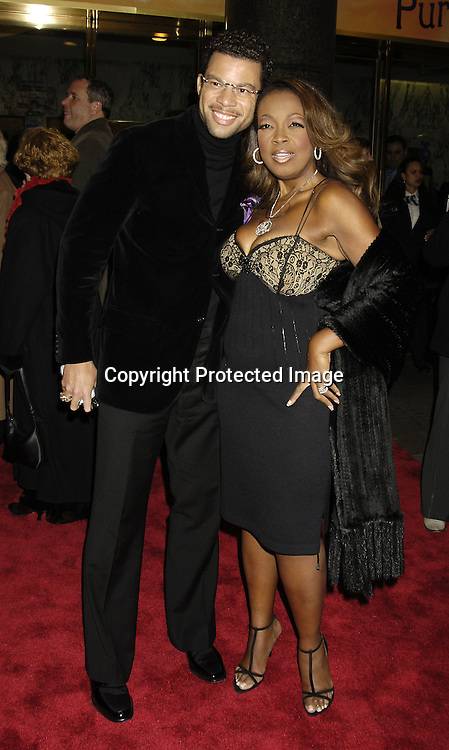 """Al Reynolds and Star Jones Reynolds ..arriving at the Broadway opening of """"The Color Purple"""" ..produced by Oprah Winfrey on December 1, 2005 ..at The Broadway Theatre...Photo by Robin Platzer, Twin Images"""