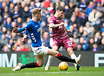 Rangers v St Johnstone&hellip;16.02.19&hellip;   Ibrox    SPFL<br />Matty Kennedy is blocked by Joe Worrall<br />Picture by Graeme Hart. <br />Copyright Perthshire Picture Agency<br />Tel: 01738 623350  Mobile: 07990 594431