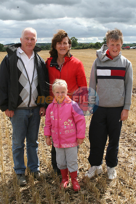 The Crilly Family at the Combines for Charity Guinness Book of World Records Attempt...Photo NEWSFILE/Jenny Matthews.(Photo credit should read Jenny Matthews/NEWSFILE)....This Picture has been sent you under the condtions enclosed by:.Newsfile Ltd..The Studio,.Millmount Abbey,.Drogheda,.Co Meath..Ireland..Tel: +353(0)41-9871240.Fax: +353(0)41-9871260.GSM: +353(0)86-2500958.email: pictures@newsfile.ie.www.newsfile.ie.FTP: 193.120.102.198.