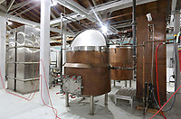 NWA Democrat-Gazette/DAVID GOTTSCHALK The original Fort Smith crafted Weidman Brewery system is now part of the seven barrel brewing system used by the Fort Smith Brewing Company located at 7500 Fort Chaffee Boulevard in Fort Smith.