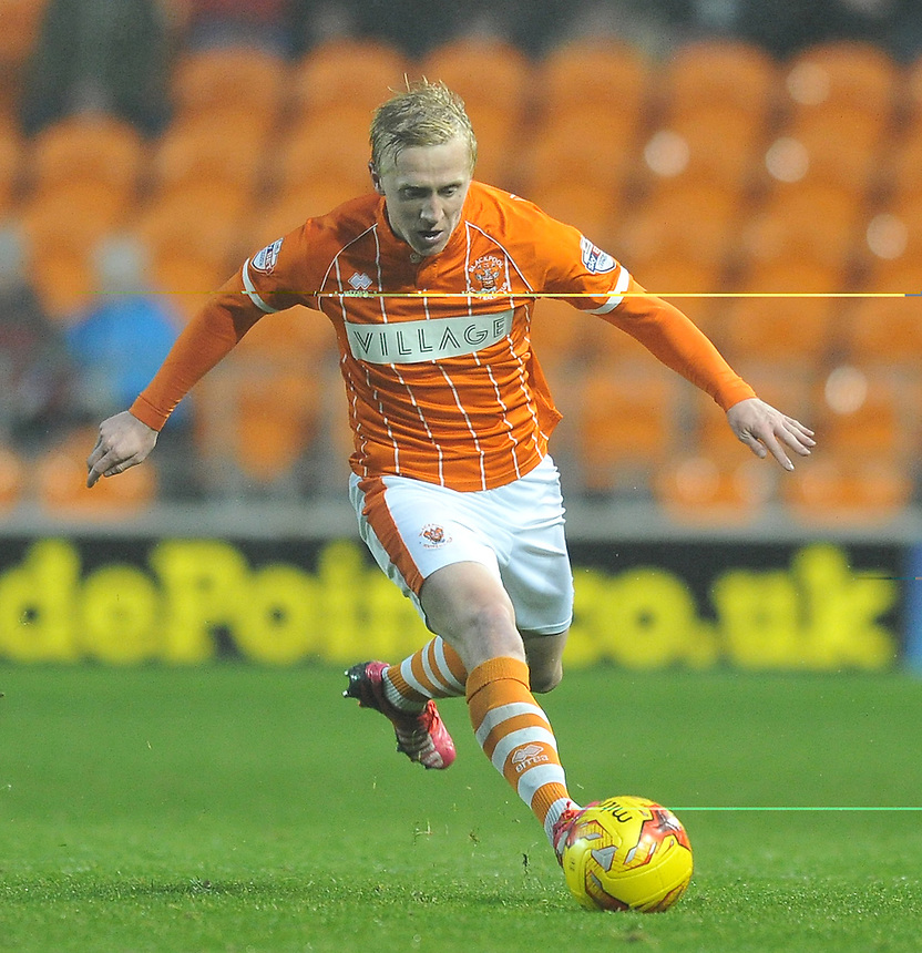 Blackpool's Mark Cullen<br /> <br /> Photographer Bethany Hankey/CameraSport<br /> <br /> Football - The Football League Sky Bet League One - Blackpool v Doncaster Rovers - Saturday 14th November 2015 -   Bloomfield Road - Blackpool<br /> <br /> &copy; CameraSport - 43 Linden Ave. Countesthorpe. Leicester. England. LE8 5PG - Tel: +44 (0) 116 277 4147 - admin@camerasport.com - www.camerasport.com