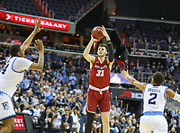 Washington, DC - March 10, 2018: Saint Joseph's Hawks forward Taylor Funk (33) makes a jump shot during the Atlantic 10 semi final game between Saint Joseph's and Rhode Island at  Capital One Arena in Washington, DC.   (Photo by Elliott Brown/Media Images International)