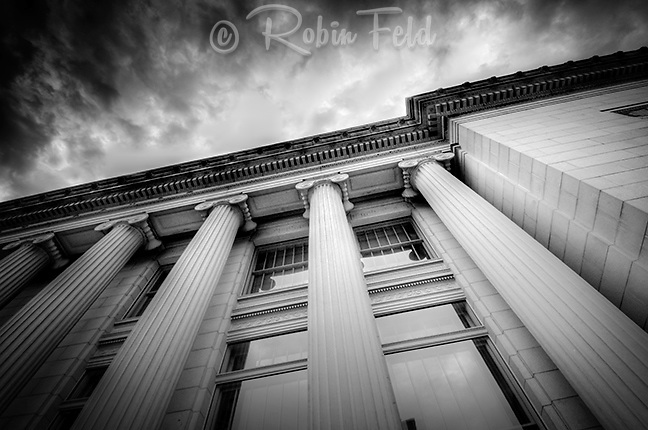 Old Post Office Building in Dayton Ohio, Pillars, Up Series