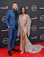 Travis Kelce &amp; Kayla Nicole at the 2018 ESPY Awards at the Microsoft Theatre LA Live, Los Angeles, USA 18 July 2018<br /> Picture: Paul Smith/Featureflash/SilverHub 0208 004 5359 sales@silverhubmedia.com