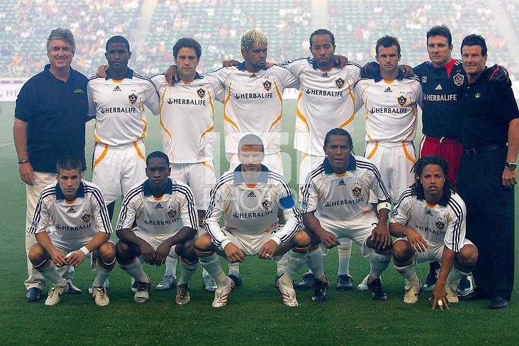 LA Galaxy starting  XI. CD Chivas USA defeated the LA Galaxy 3-0 in the Super Classico MLS match at the Home Depot Center in Carson, California, Thursday, August 23, 2007.