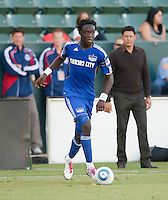 CARSON, CA – SEPTEMBER 19: KC Wizard midfielder Kei Kamara during a soccer match at Home Depot Center, September 19, 2010 in Carson California. Final score Chivas USA 0, Kansas City Wizards 2.