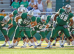 Baylor Bears offensive linesman Cameron Kaufhold (71), Baylor Bears linebacker Brody Trahan (15) and Baylor Bears offensive tackle Cyril Richardson (68) in action during the game between the Rice Owls and the Baylor Bears at the Floyd Casey Stadium in Waco, Texas. Baylor defeats Rice 56 to 31..