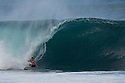 Dave Wassel at Pipeline on the North Shore in Hawaii