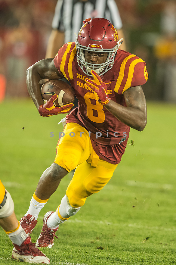 Iowa State Cyclones D'Vario Montgomery (8) during a game against the Northern Iowa Panthers on September 5, 2015 at Jack Trice Stadium in Ames, Iowa. Iowa State beat Northern Iowa 31-7.