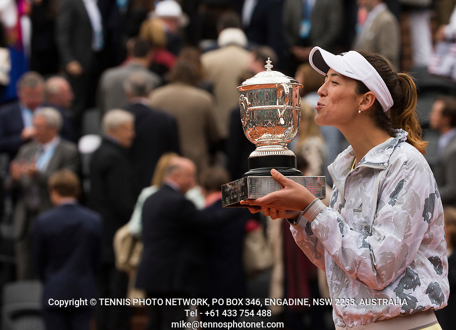 GARBI&Ntilde;E MUGURUZA (ESP)<br /> <br /> TENNIS - FRENCH OPEN - ROLAND GARROS - ATP - WTA - ITF - GRAND SLAM - CHAMPIONSHIPS - PARIS - FRANCE - 2016  <br /> <br /> <br /> <br /> &copy; TENNIS PHOTO NETWORK