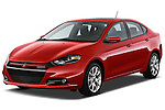 Front three quarter view of a 2013 Dodge Dart Rallye .