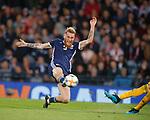 06.09.2019 Scotland v Russia, European Championship 2020 qualifying round, Hampden Park:<br /> Oli McBurnie tries to intercept