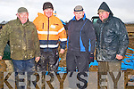 COMPETITION: Plaoughing away at the Abbeydorney ploughing competition on Sunday l-r: Aeneas Horan, (Castleisland),Mundy Hayes (Abbaeydorney) Denis o'Mahony (Abbeydorney) and Timmy Horan (Castleisland).