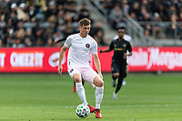 LOS ANGELES, CA - MARCH 01: Wil Trapp #5 of Inter Miami CF advances the ball in a match against LAFC during a game between Inter Miami CF and Los Angeles FC at Banc of California Stadium on March 01, 2020 in Los Angeles, California.