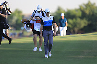 Rory McIlroy (NIR) on the 18th tee during the 3rd round of the DP World Tour Championship, Jumeirah Golf Estates, Dubai, United Arab Emirates. 23/11/2019<br /> Picture: Golffile | Fran Caffrey<br /> <br /> <br /> All photo usage must carry mandatory copyright credit (© Golffile | Fran Caffrey)