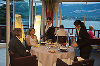 Europe/France/Rhône-Alpes/73/Savoie/Le Bourget-du-Lac: Restaurant: Le Bateau Ivre à l'Hôtel Ombremont- Salle de Restaurant [Non destiné à un usage publicitaire - Not intended for an advertising use]