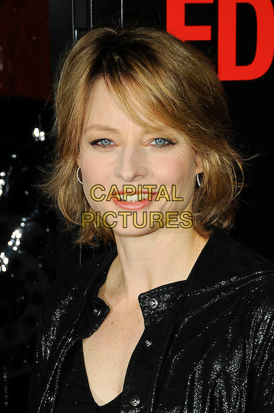 "JODIE FOSTER .The Los Angeles premiere of ""Edge of Darkness"" at Grauman's Chinese Theatre in Hollywood, California, USA..January 26th, 2010.headshot portrait black .CAP/ROT.©Lee Roth/Capital Pictures"