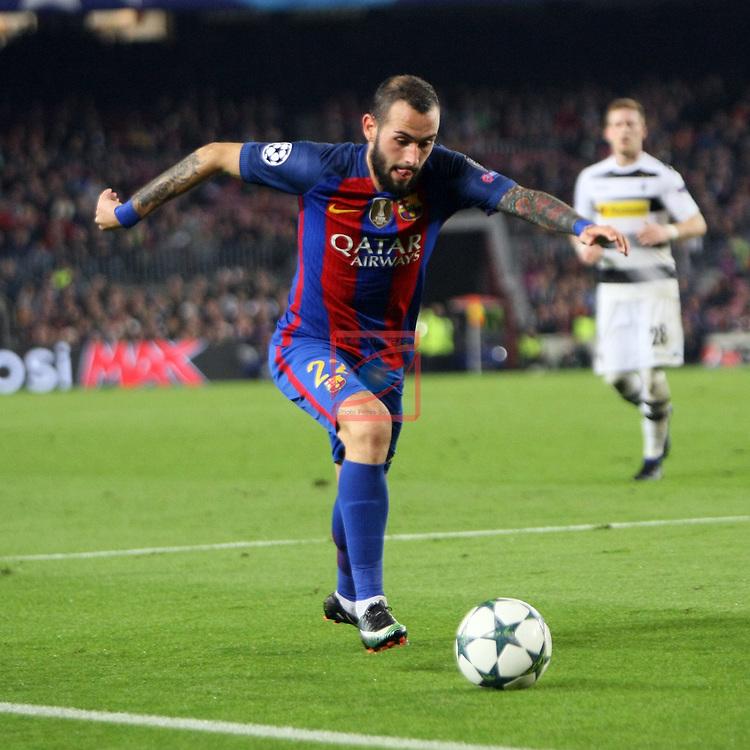 UEFA Champions League 2016/2017 - Matchday 6.<br /> FC Barcelona vs VfL Borussia Monchengladbach: 4-0.<br /> Aleix Vidal.