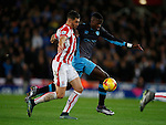 Geoff Cameron of Stoke City tussles with Luca Joao of Sheffield Wednesday - Capital One Cup Quarter-Final - Stoke City vs Sheffield Wednesday - Britannia Stadium - Stoke - England - 1st December 2015 - Picture Simon Bellis/Sportimage