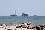 Gas rigs in the Gulf of Mexico off Fort Gaines