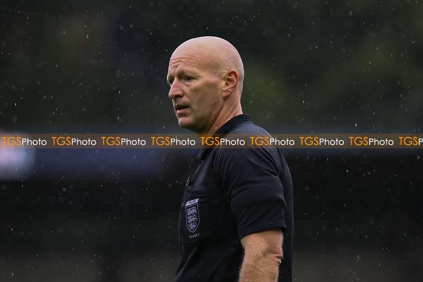 Referee Steven Hughes during Hampton & Richmond Borough vs AFC Hornchurch, Emirates FA Cup Football at the Beveree Stadium on 6th October 2018